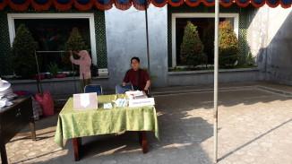 Stand Vaksinasi Masal Influenza Asrama Haji Yogyakarta